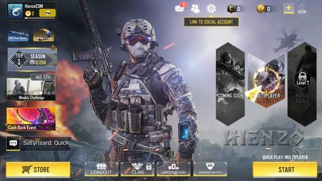 Call of Duty Mobile Main Menu